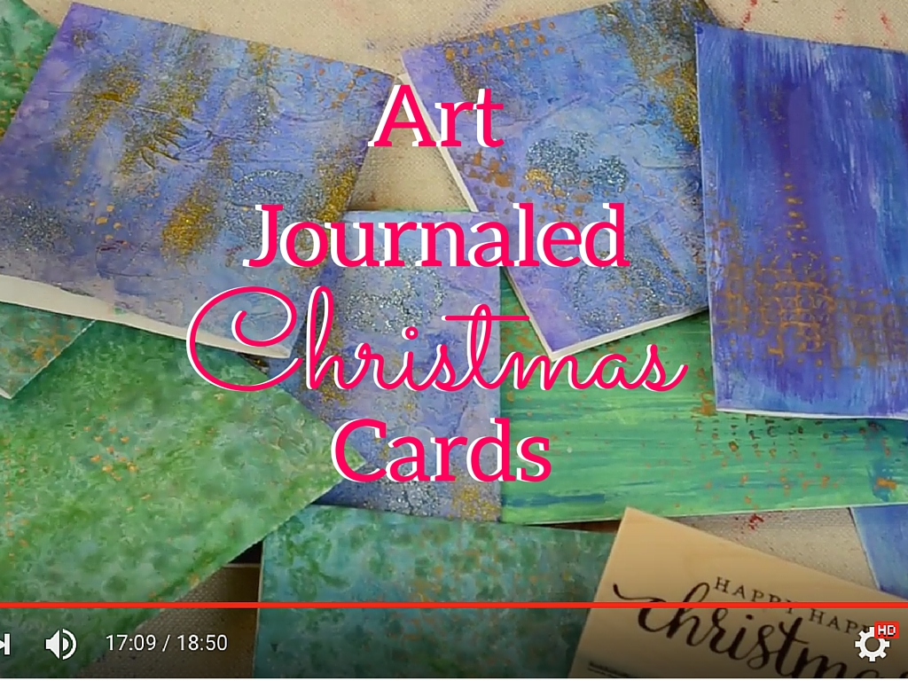 DIY Art Journal Christmas Cards