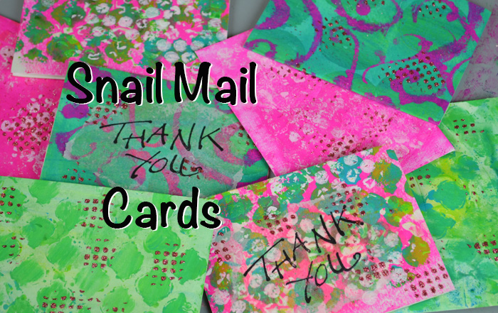 Snail Mail Thank You Cards