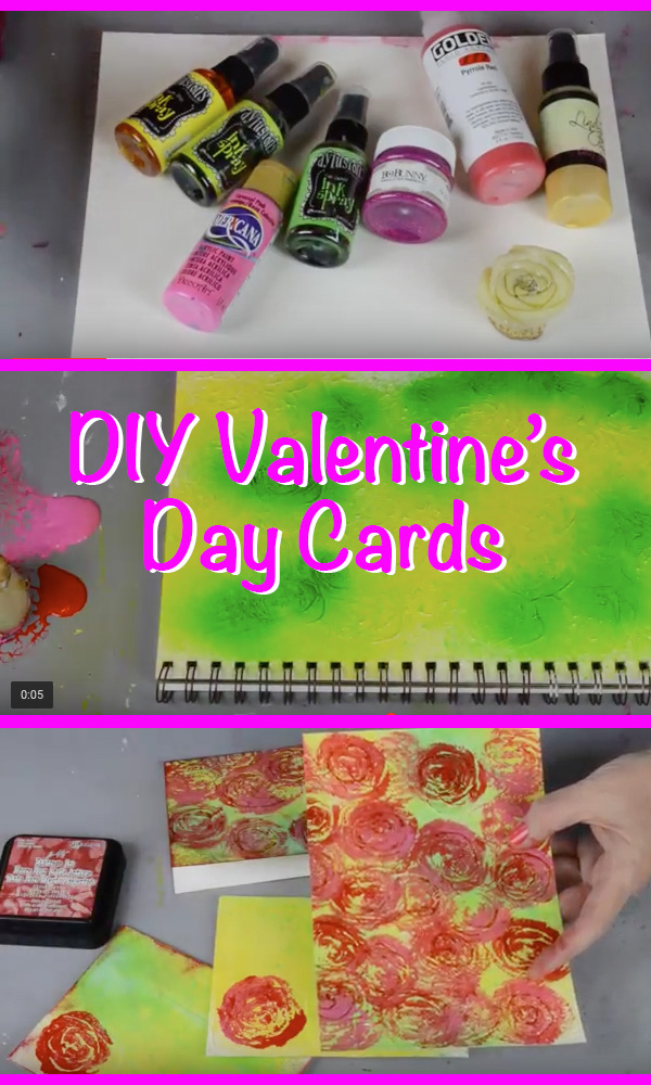 DIY Valentine's Day Cards - Roses