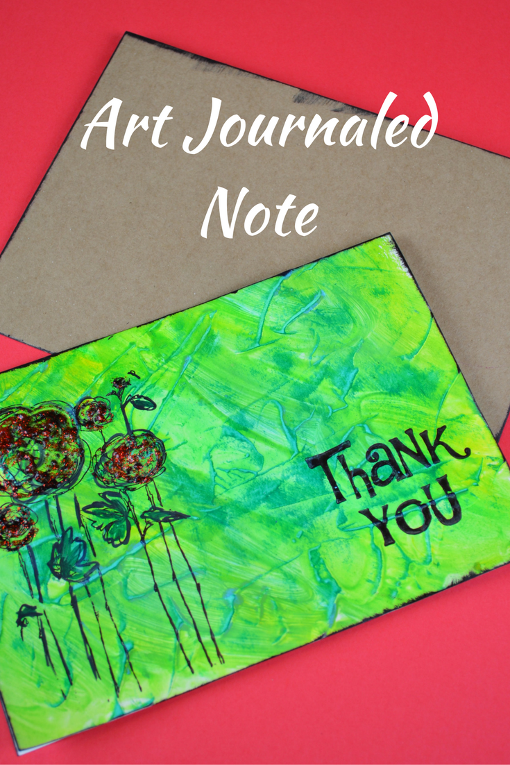 Art Journaled Thank You Notes with Gelatos and Glitter Paste