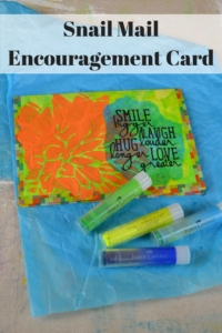 Snail Mail Encouragement Card