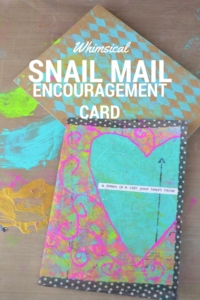 Whimsical Snail Mail Encouragement Card
