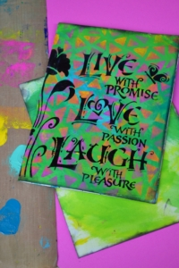 Stenciled Encouragement Card