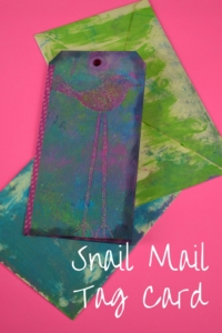 Snail Mail Tag Card with Washi Tape