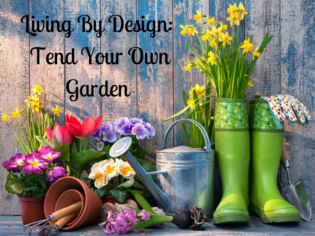 Living by design tend your own garden start somewhere for Garden design your own
