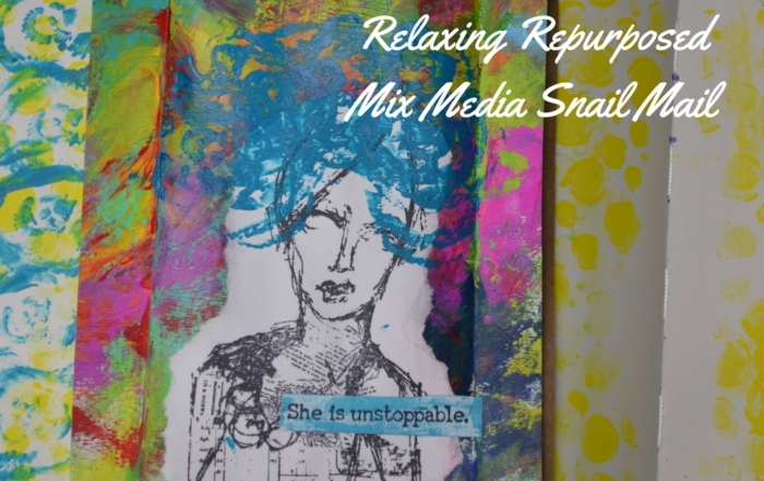 Relaxing Repurposed Mix Media Snail Mail