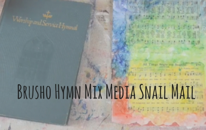 Brusho Hymn Mix Media Snail Mail